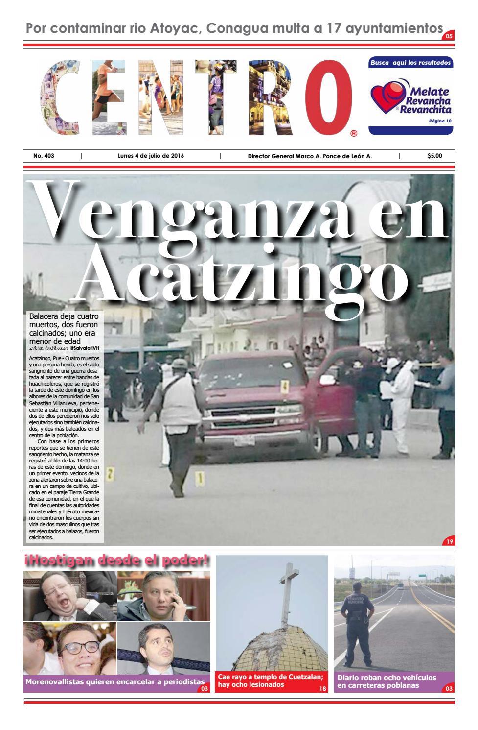 Venganza en Acatzingo by Centro Online - issuu