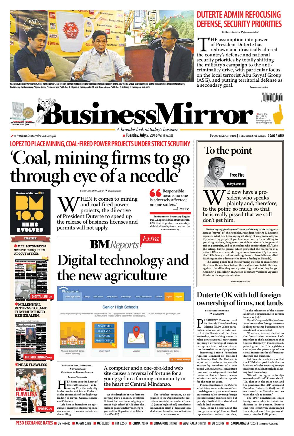 Businessmirror july 05, 2016 by BusinessMirror - issuu