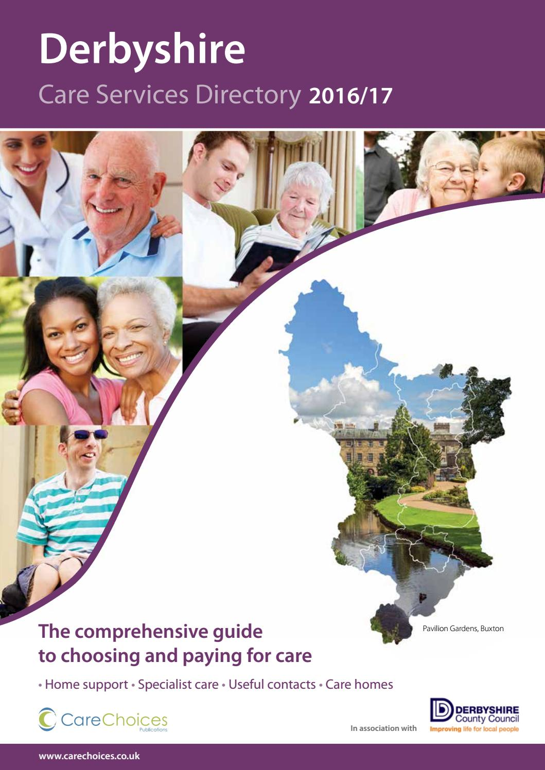 Derbyshire Care Service Directory 2016 17 By Choices Ltd