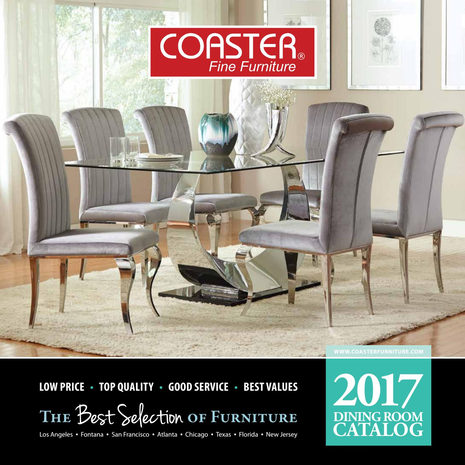 2017 Coaster Dining Catalog By Seaboard Bedding And