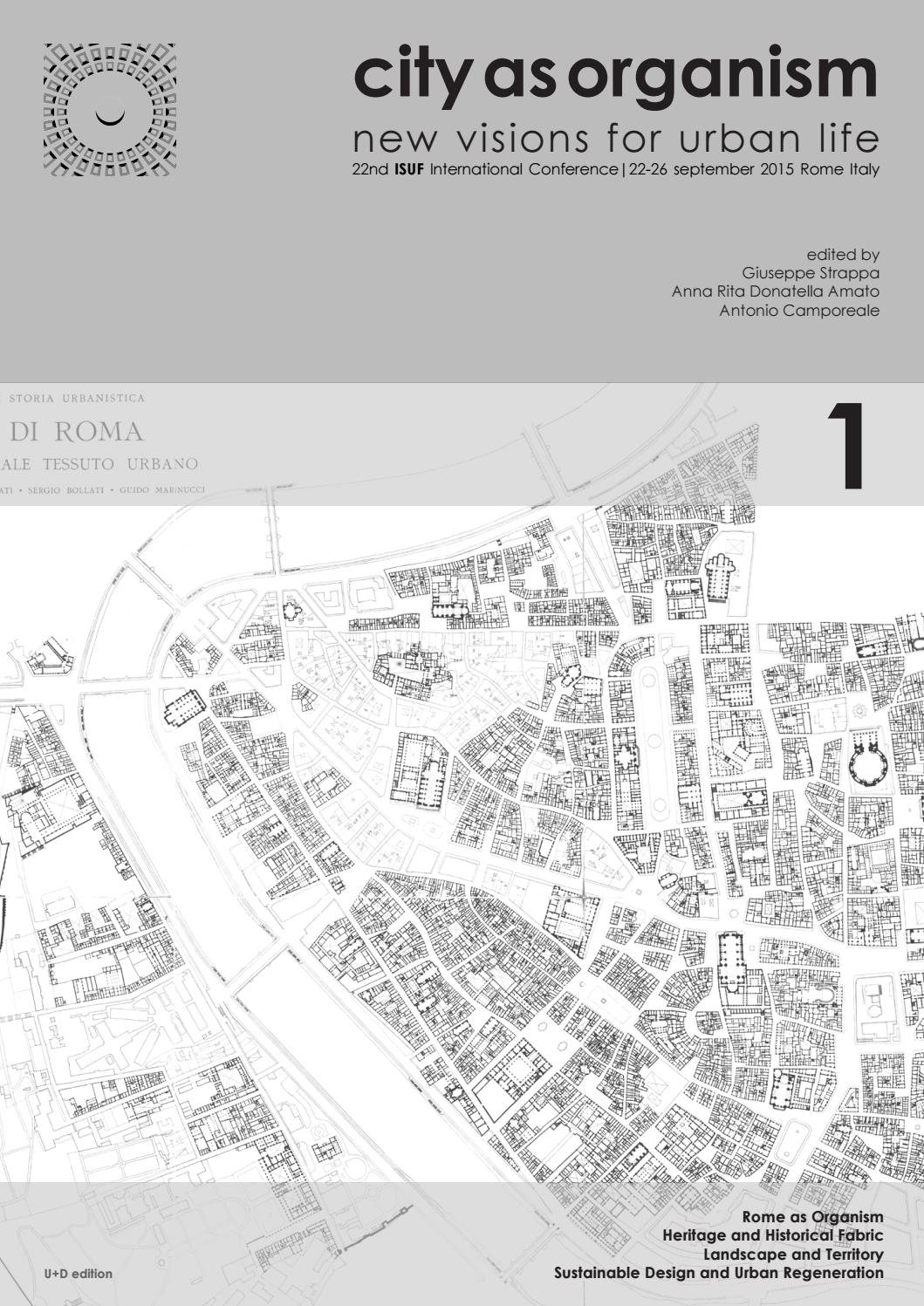 Design Construction Et Associés Granville city as organism isuf rome 2015 | volume 1_part 1u+d