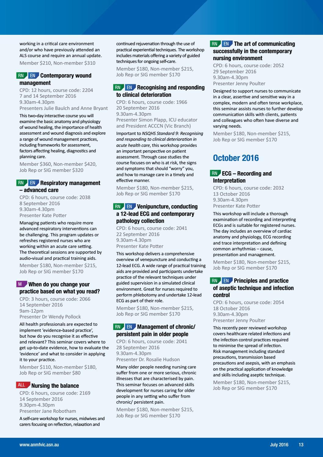 2016 OTR July by Australian Nursing and Midwifery Federation