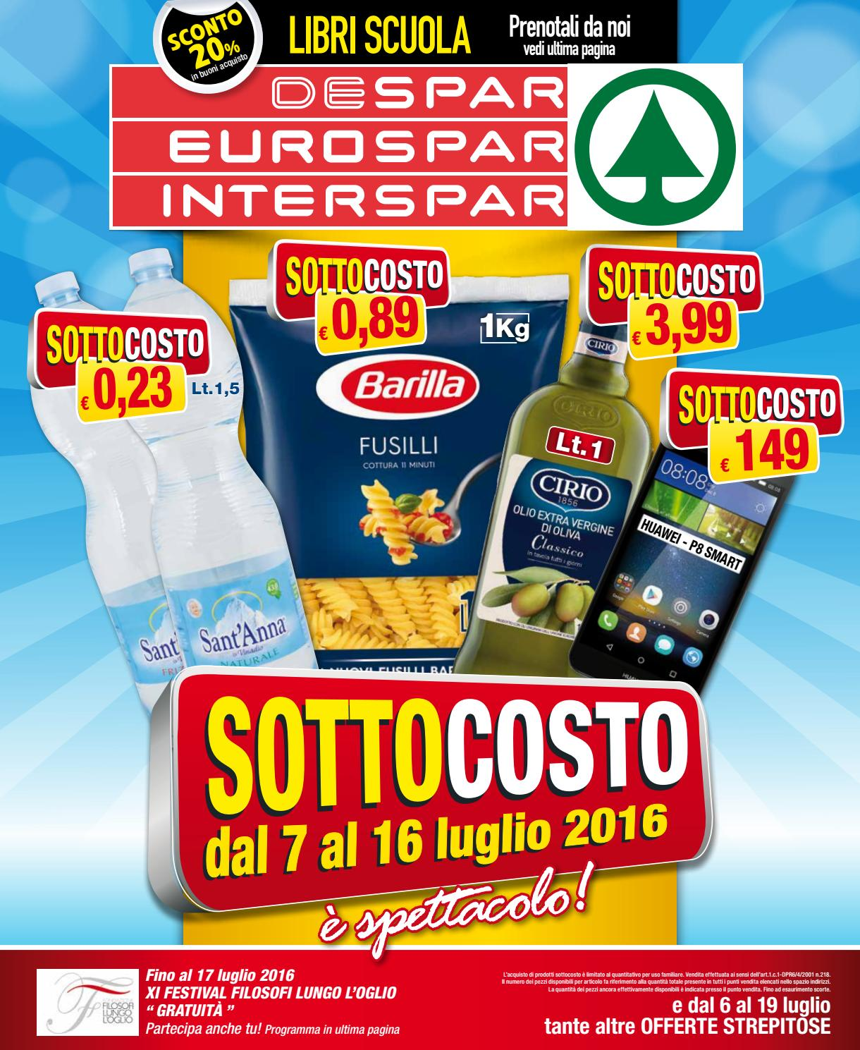 Despar eurospar interspar volantino offerte 14 2016 by for Volantino offerte despar messina