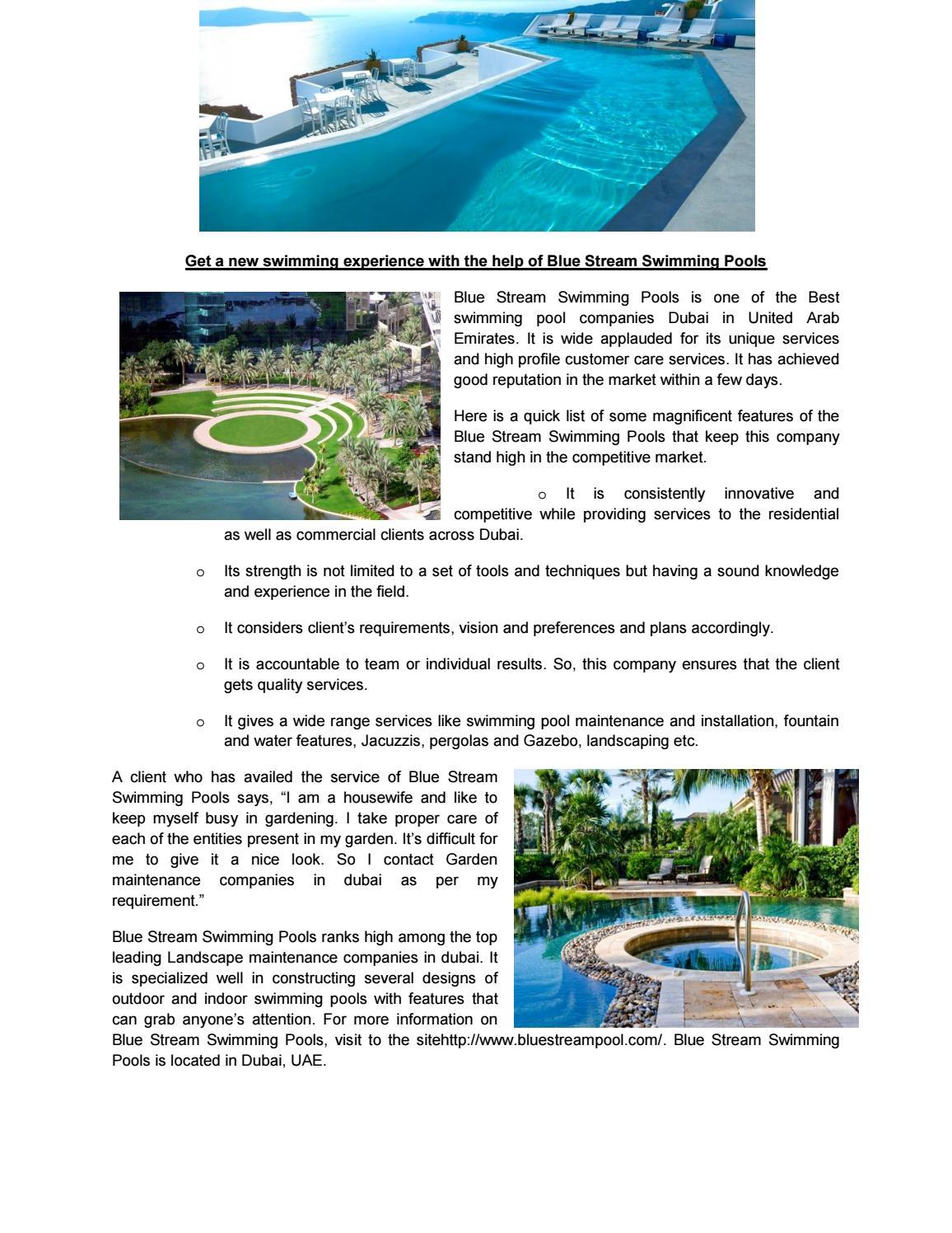 Garden maintenance companies in dubai by Bluestreampool - issuu