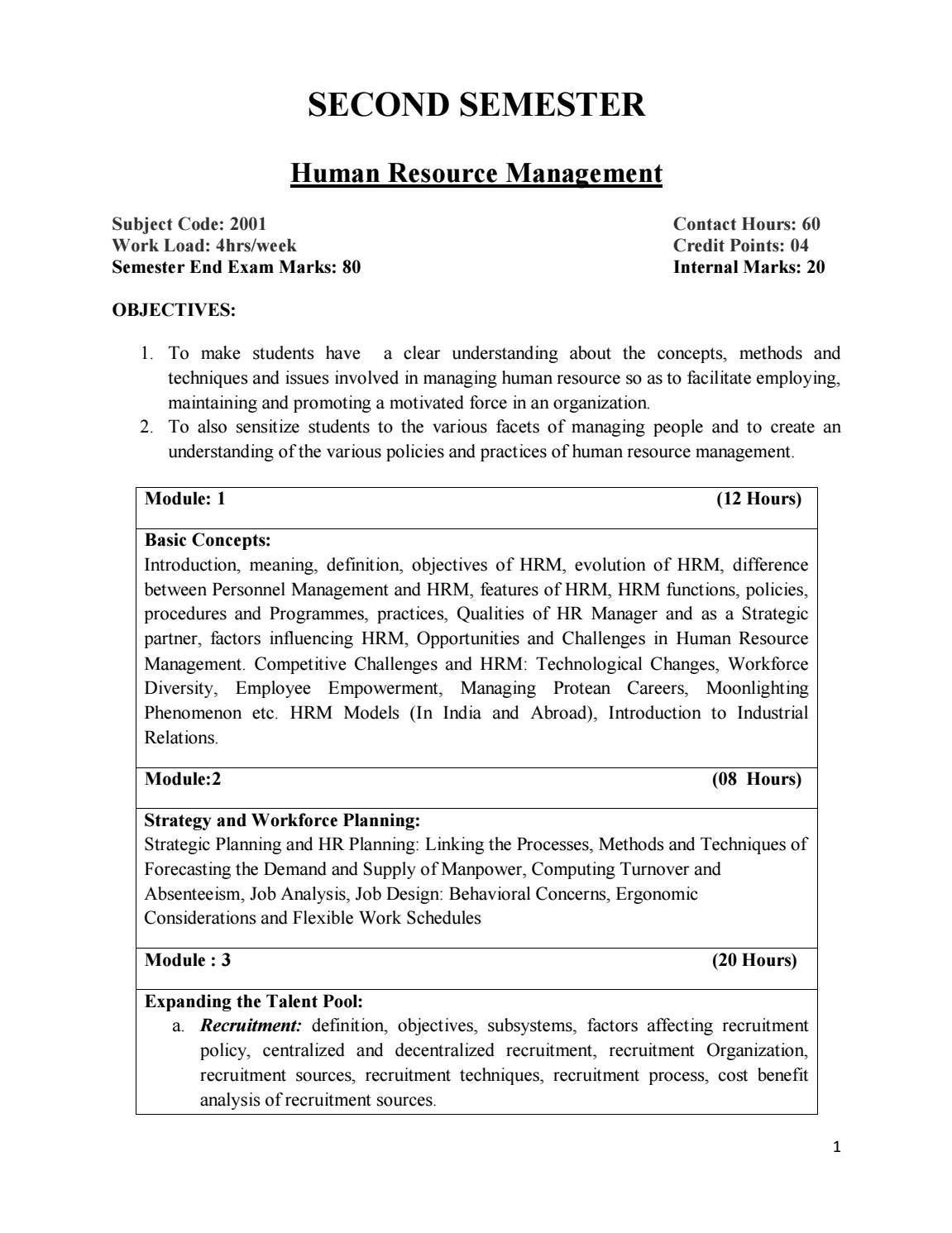 difference between personnel management and human resource management
