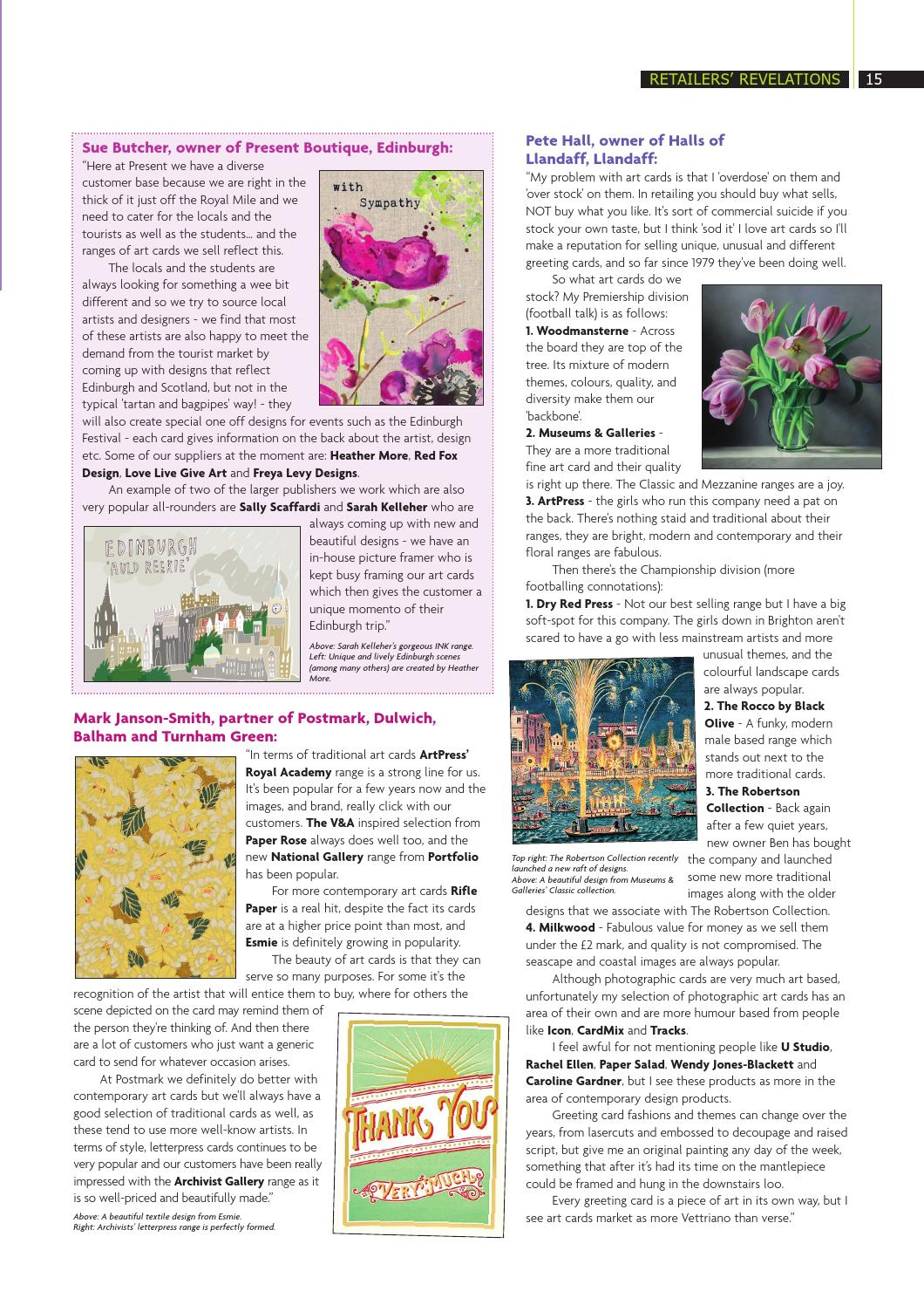 Progressive Greetings Focus On Art Cards July 2016 By Max