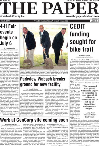 The Paper Of Wabash County July 6 2016 Issue By The Paper Of