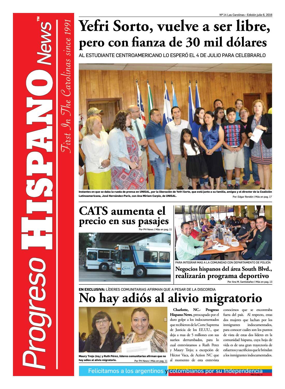 Progreso Hispano News Charlotte NC Ed#14 07062016 by Progreso ...