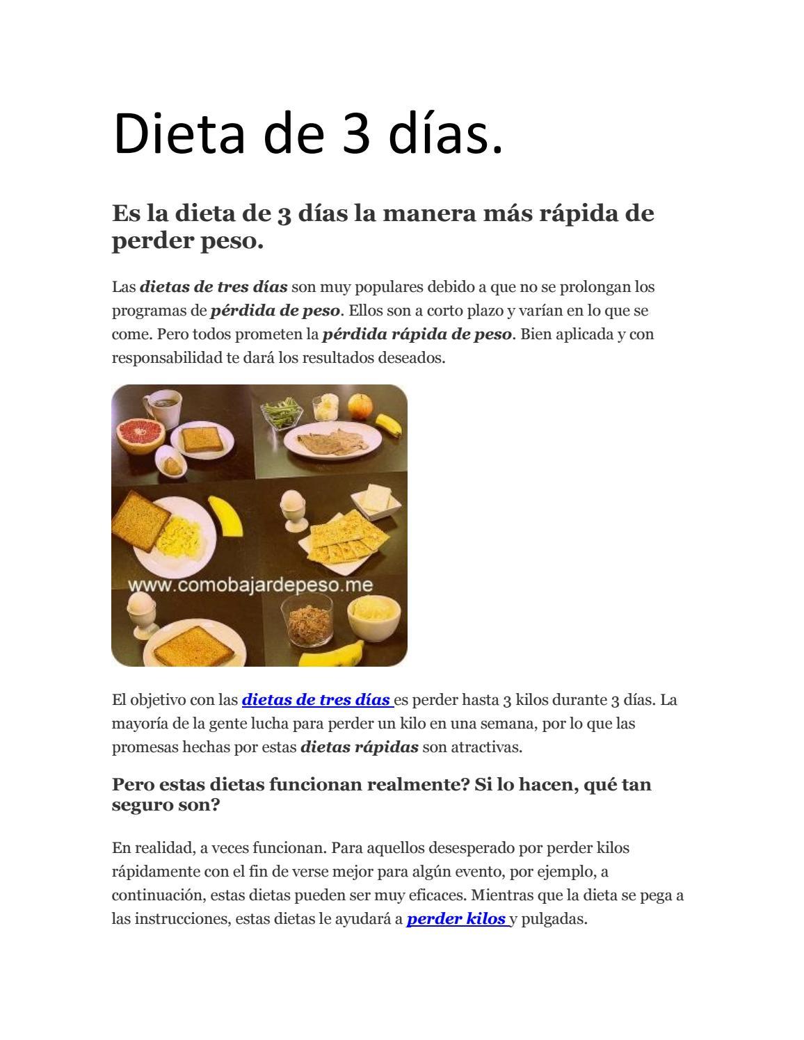 dieta mejor y más rápida