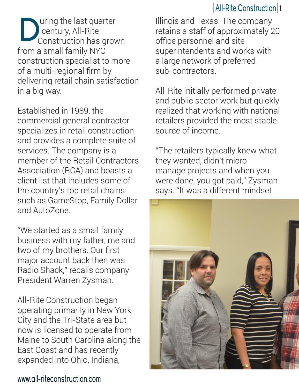 All-Rite Brochure by Construction Feature Article - issuu