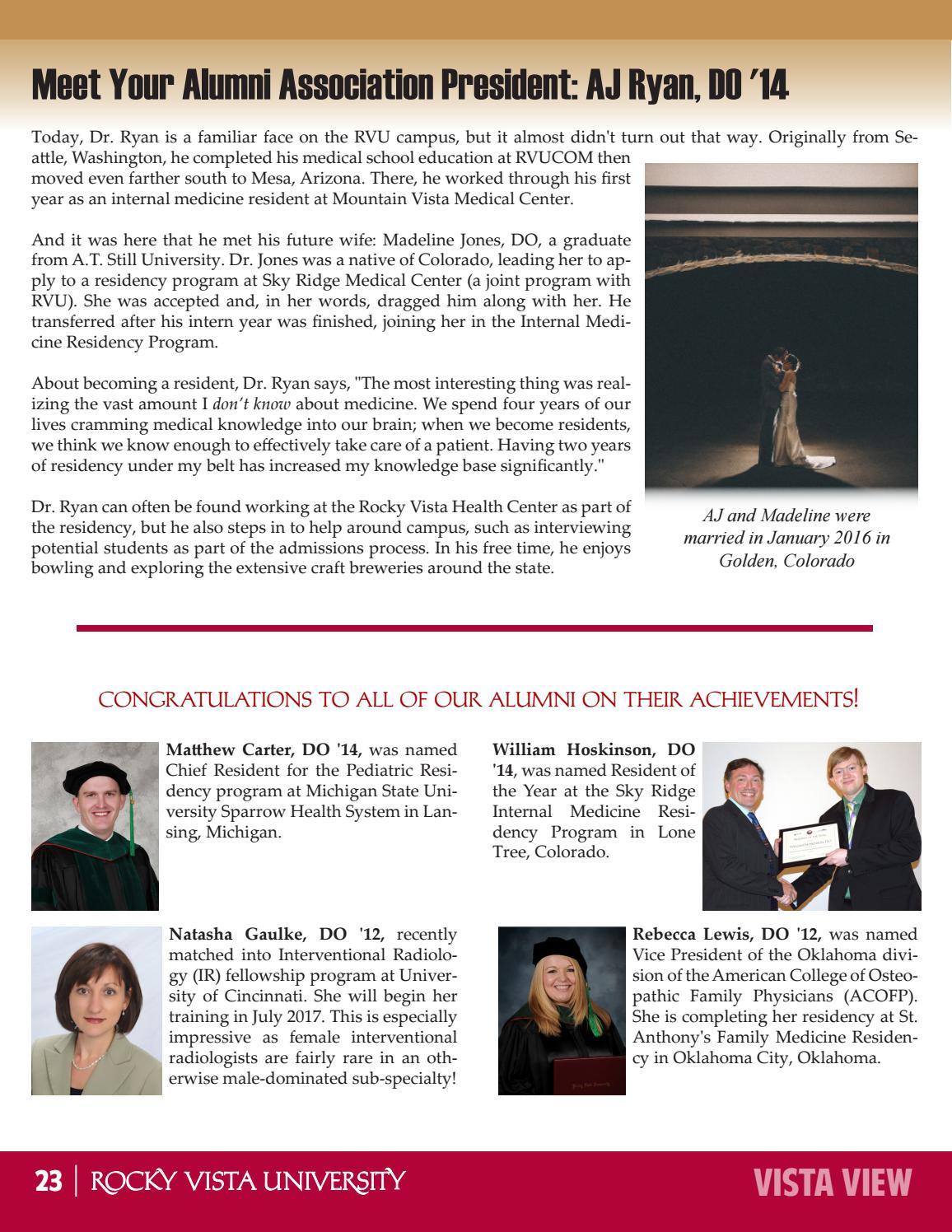 Rocky Vista University's Vista View Newsletter - June 2016