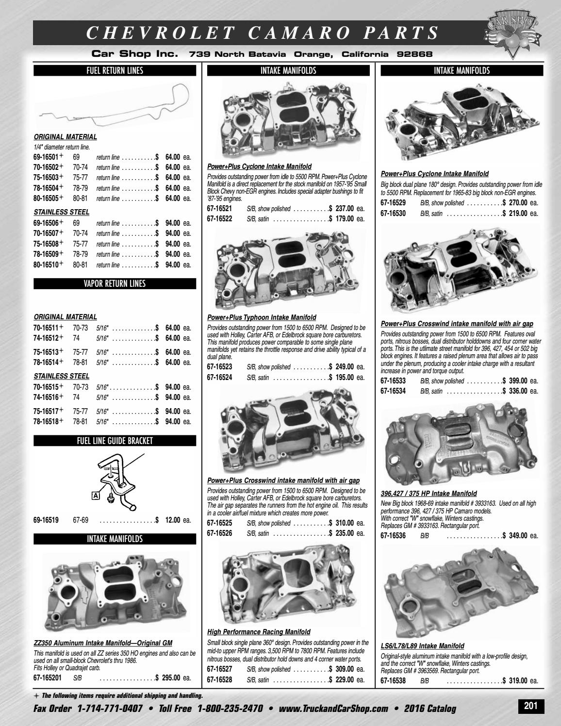 Camaro 13 cat by Truck & Car Shop - issuu
