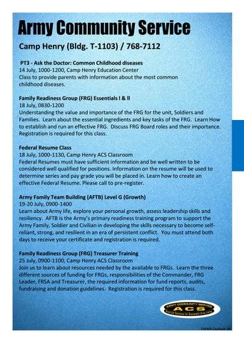 Fmwr daegu july outlook by FMWR Daegu - issuu