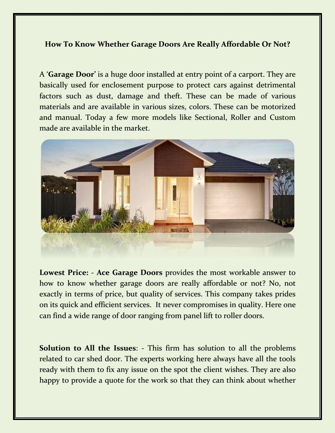 Perfect Affordable Garage Doors Solution For Your Beautiful Home