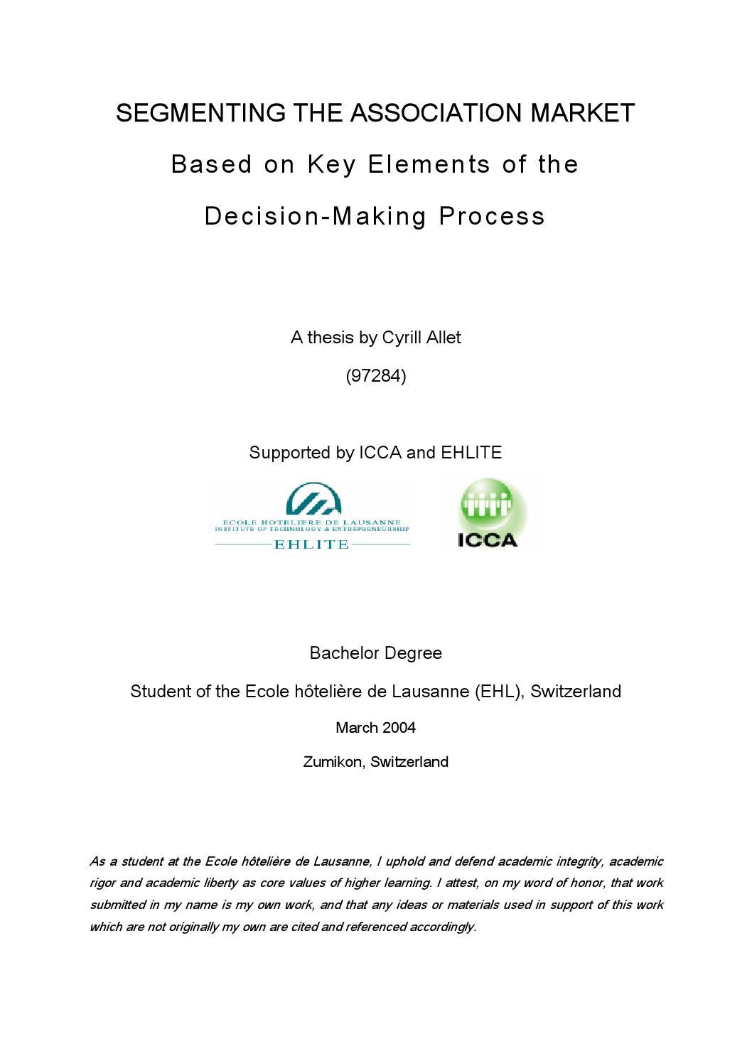 Association Decision Making Process By Cyrill Allet Issuu