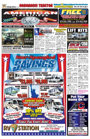 American Classifieds July 28th Edition Bryan/College Station by