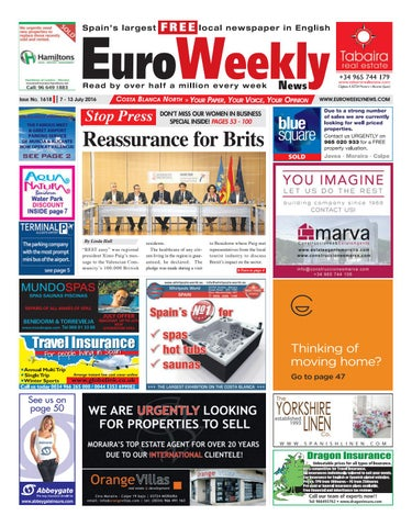2c3ee2d67 Euro Weekly News - Costa Blanca North 7 - 13 July 2016 Issue 1618 by ...