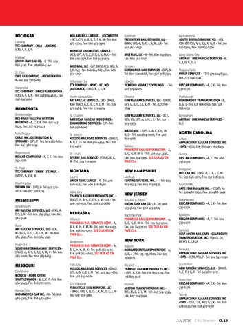 July 2016 railway age by railway age issuu page 45 michigan lansing ttx company cnln lansing cn a f k n midland union tank car co k tel 979 638 5241 fax 989 638 5240 sciox Gallery