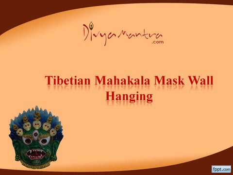 Tibetian mahakala mask wall hanging by Divya Mantra - issuu