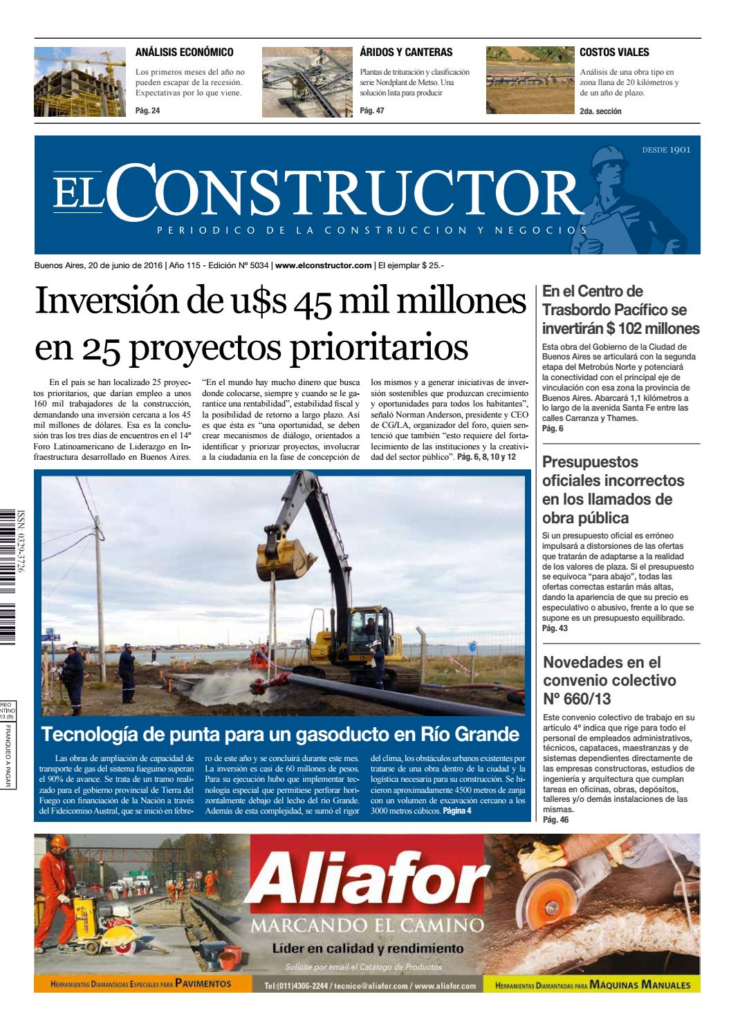 El Constructor 20 06 2016 - N° 5034 Año 115 by ELCO Editores - issuu 0fd73d2715be