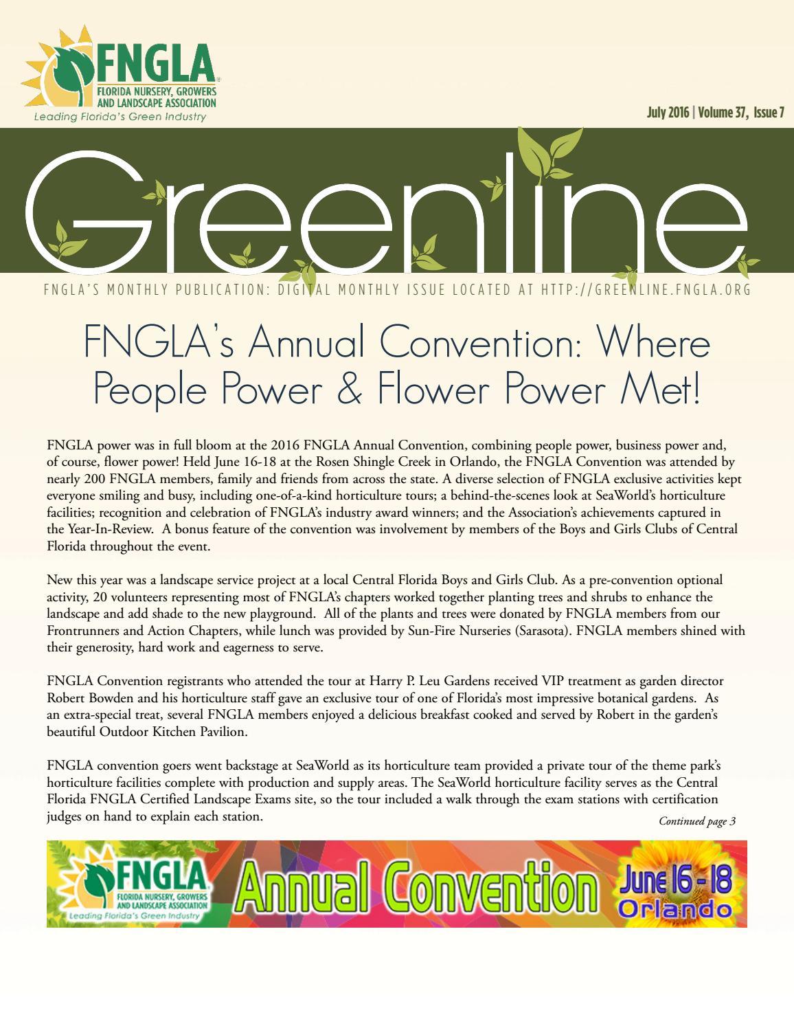 Fnglas July 2016 Greenline By Fngla Issuu