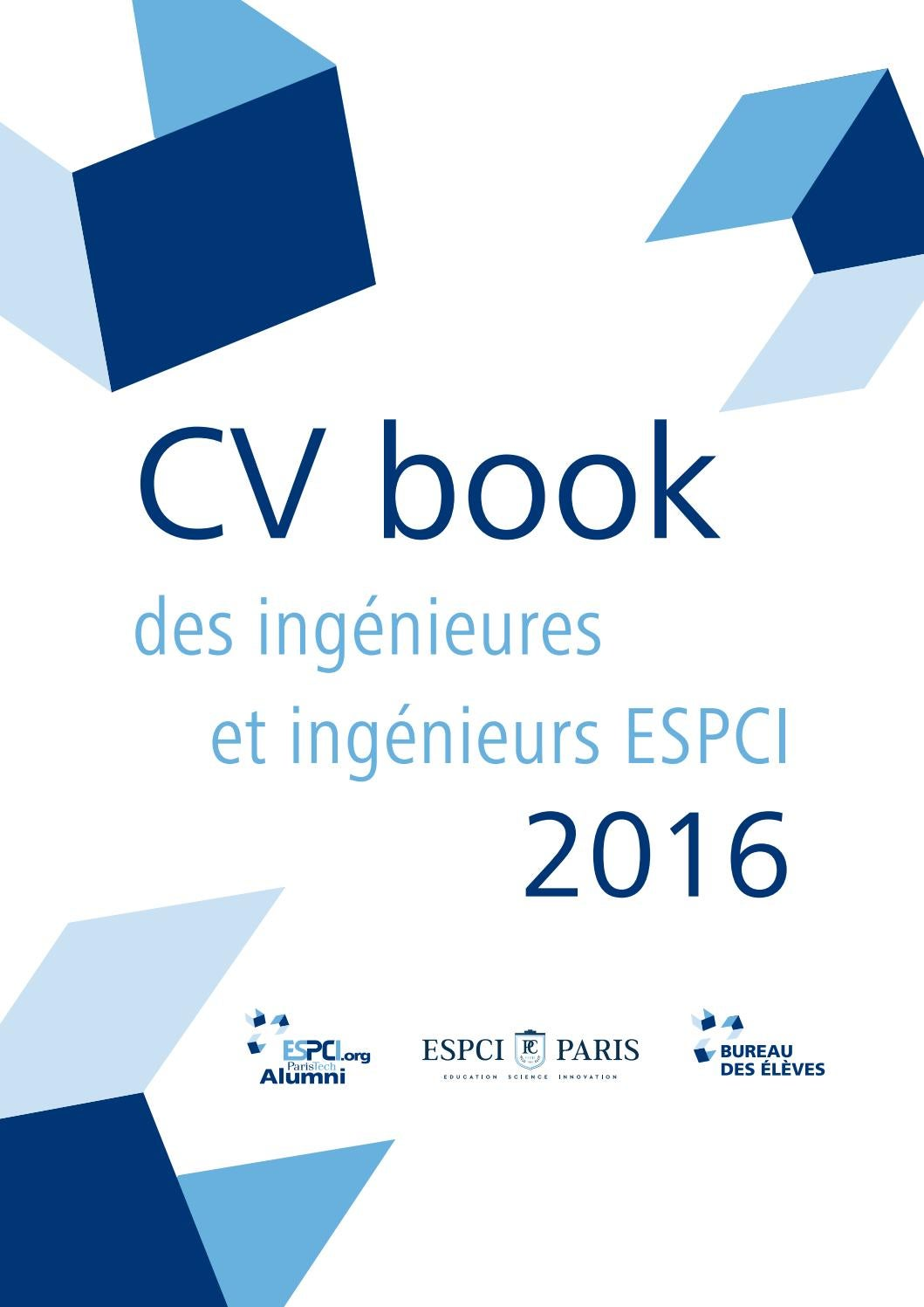 cv book espci alumni 2016 by espci alumni