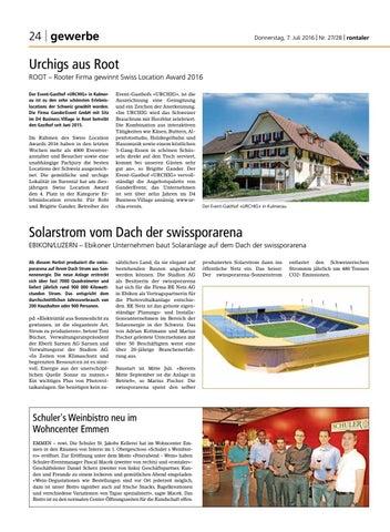 Donnerstag 7 Juli 2016 Nr 2728 By Regionalzeitung Rontaler Ag Issuu