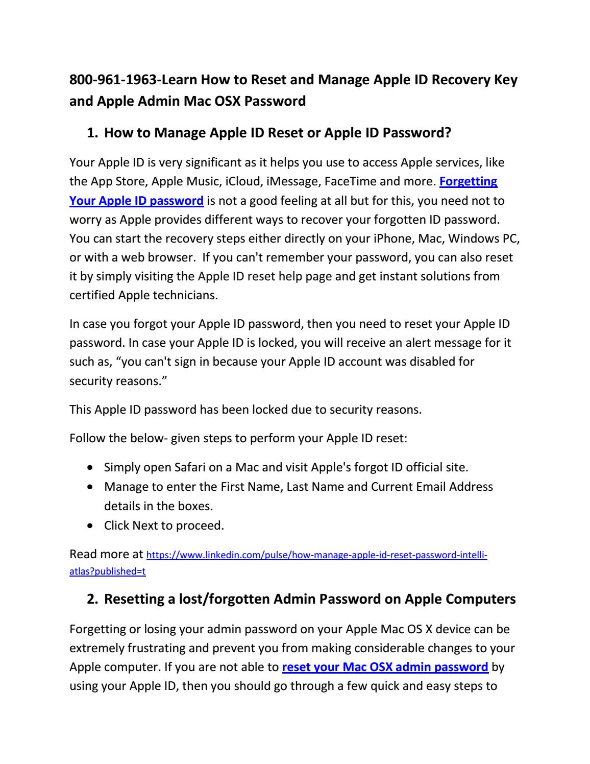 800-961-1963-Learn How to Reset and Manage Apple ID Recovery