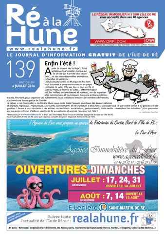 Ré à La Hune N 139 By Rhea Marketing Issuu