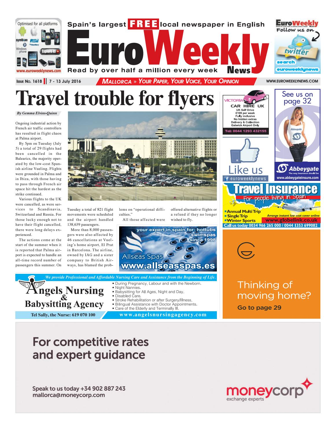 Euro weekly news mallorca 7 13 july 2016 issue 1618 by euro euro weekly news mallorca 7 13 july 2016 issue 1618 by euro weekly news media sa issuu fandeluxe Gallery