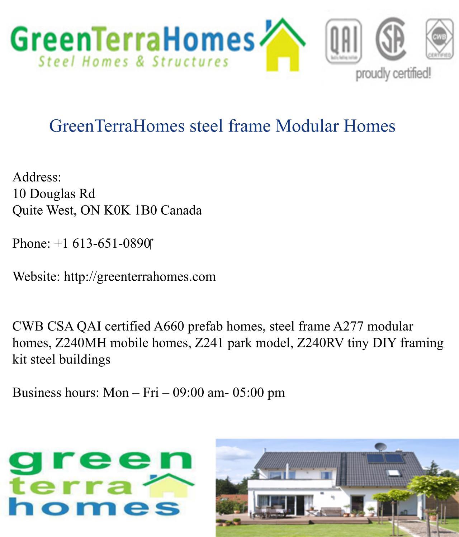 Greenterrahomes steel frame modular homes by GreenTerraHomes steel ...