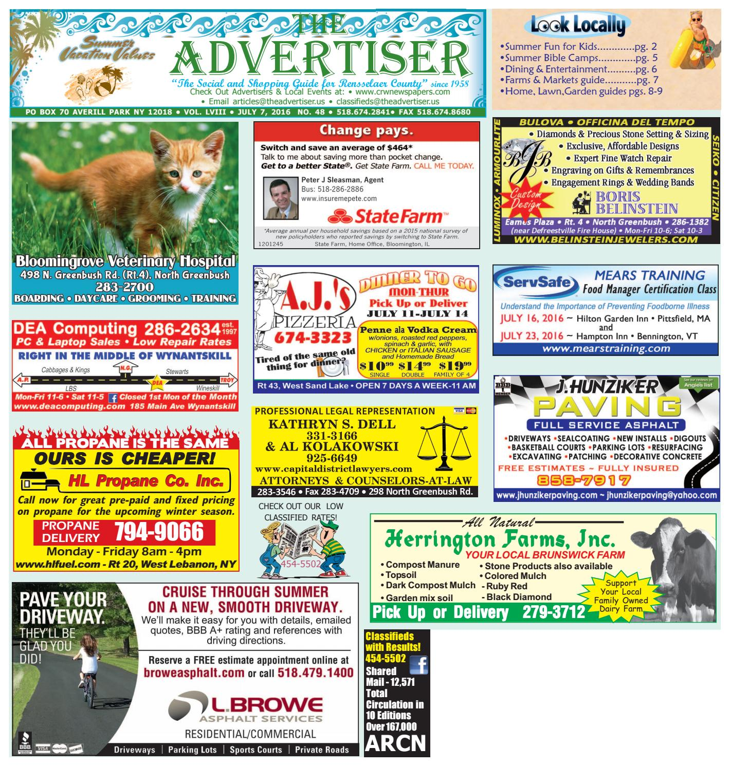 Advertiser North 070716 By Capital Region Weekly Newspapers Issuu