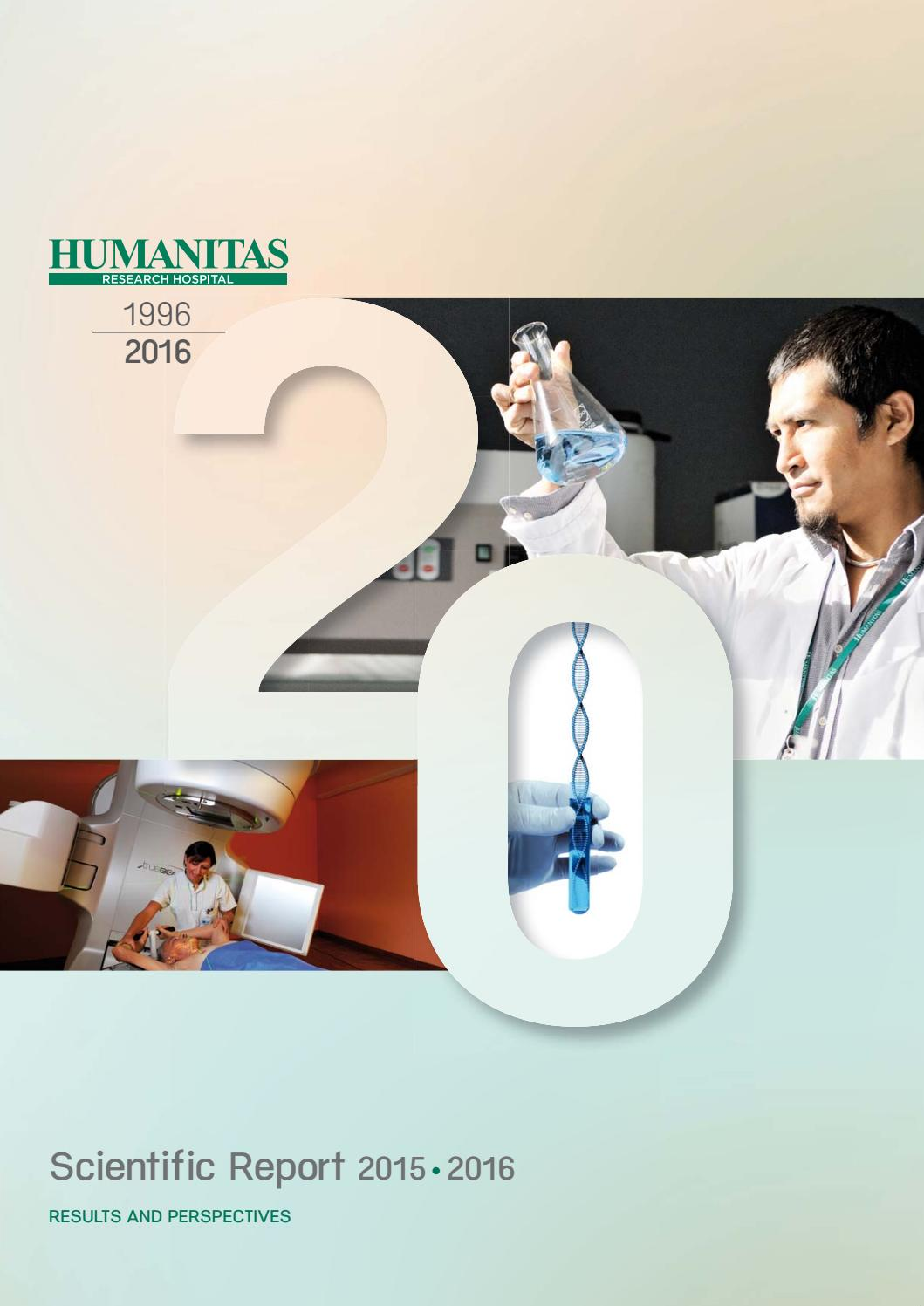 Scentific Report 2015 2016 By Humanitas Research Hospital Issuu