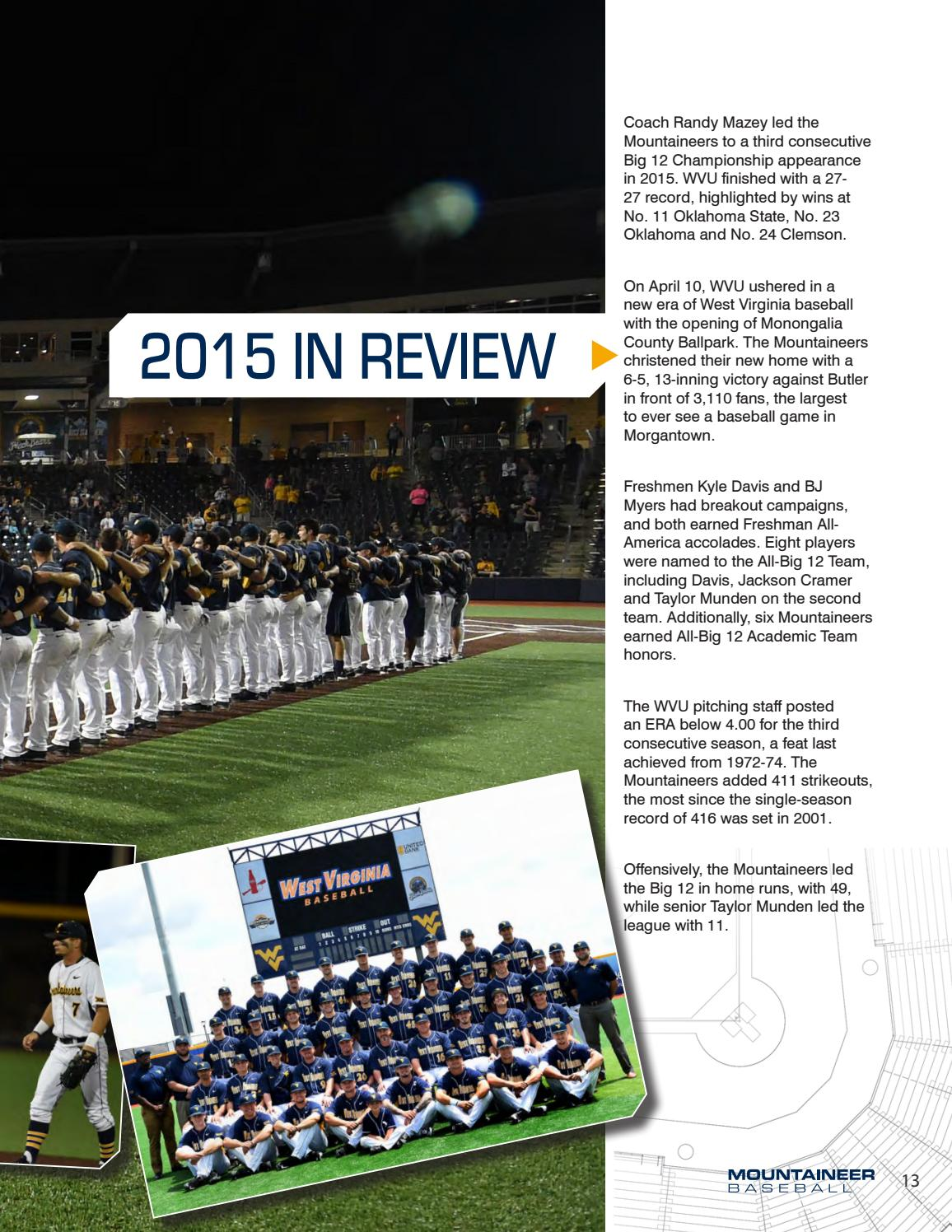 2016 WVU Baseball Guide by Joe Swan - issuu