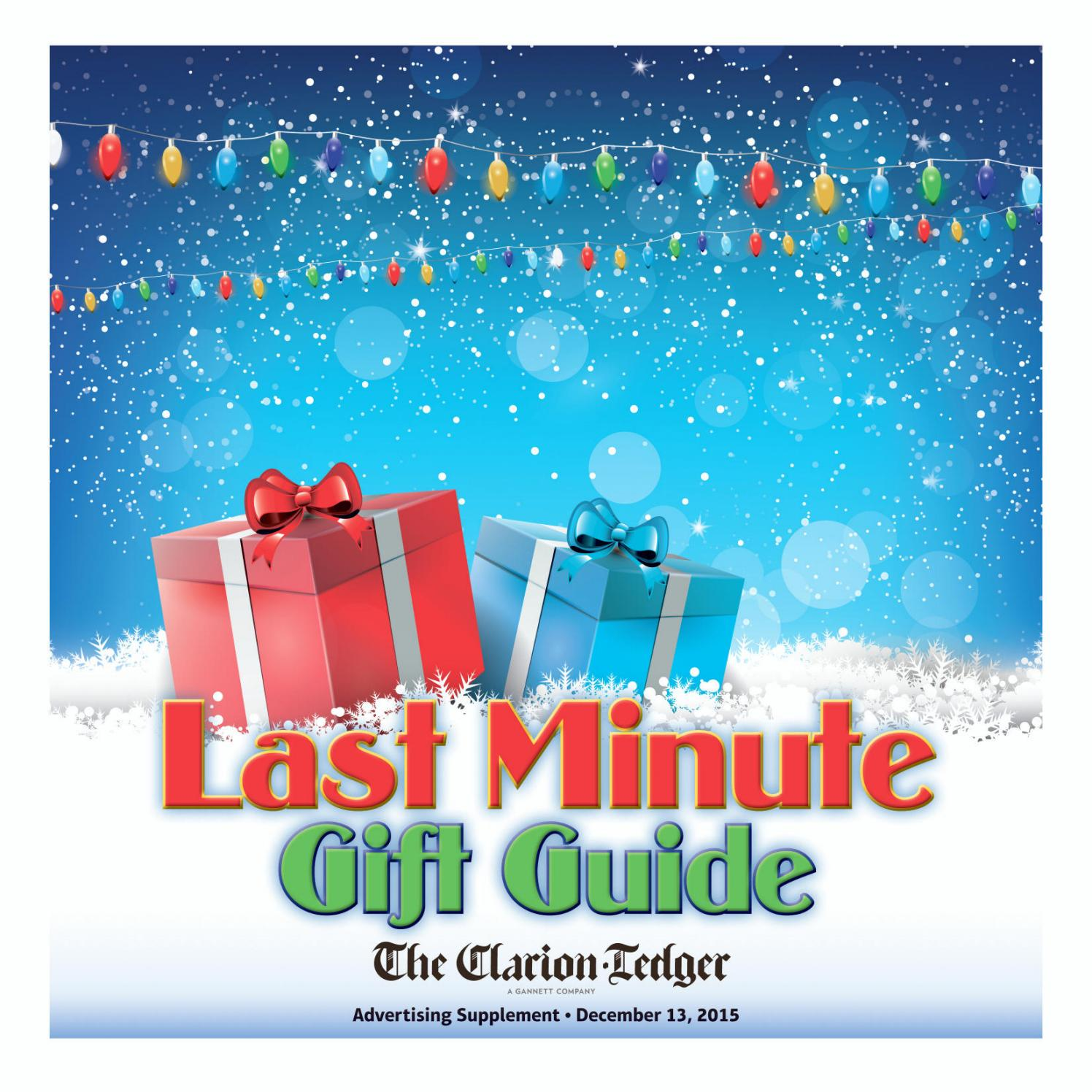 Last Minute Gift Guide 2015 by The Clarion Ledger issuu