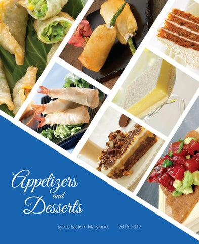 Appetizers & Desserts 2016-2017 by Sysco Eastern Maryland