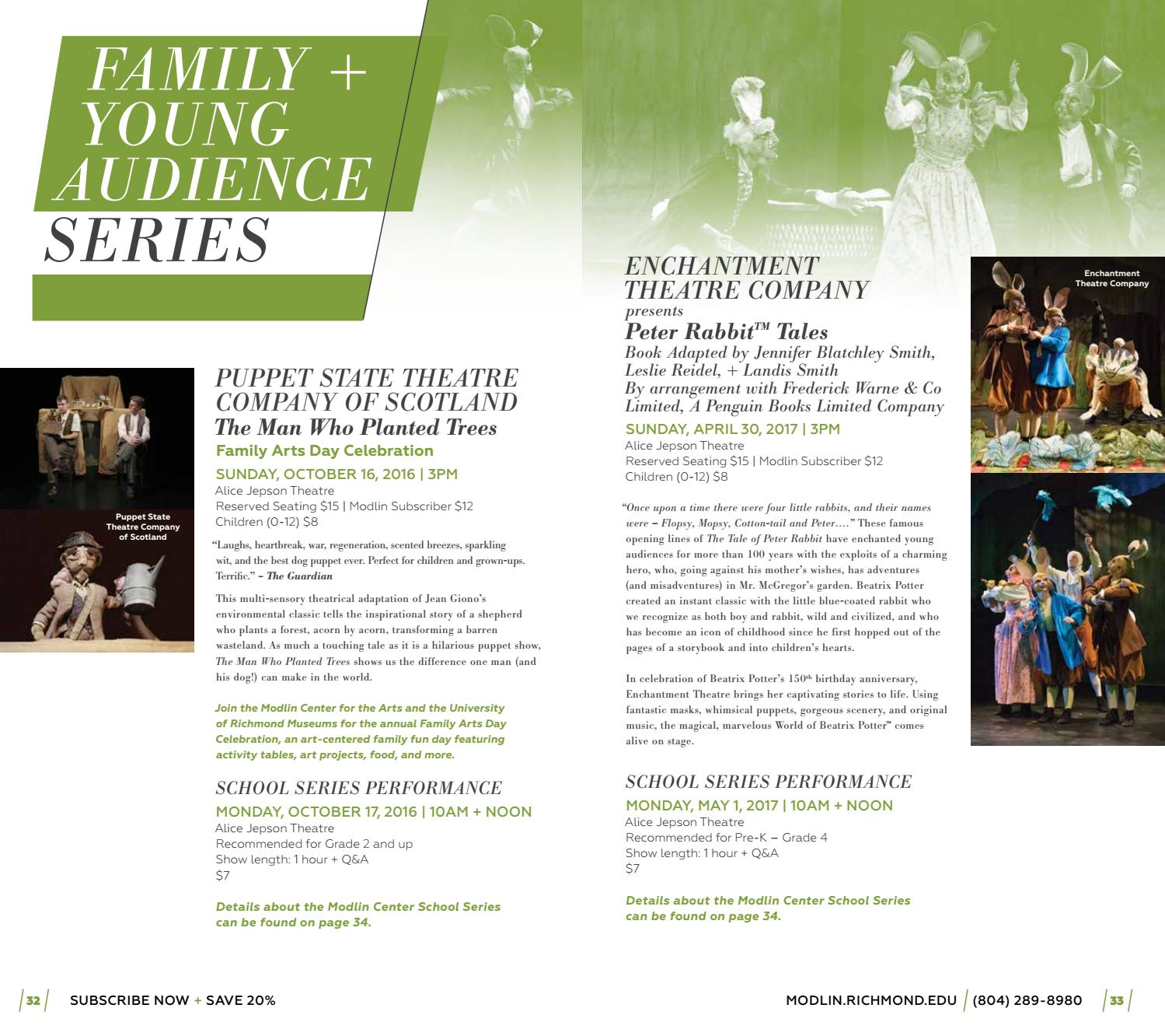 2016 2017 20th Anniversay Season Brochure By Modlin Center For The Arts Issuu