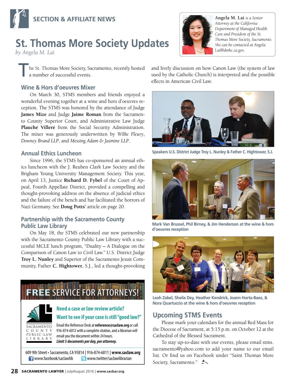 Sacramento Lawyer Magazine JULY/AUGUST by Sacramento County Bar