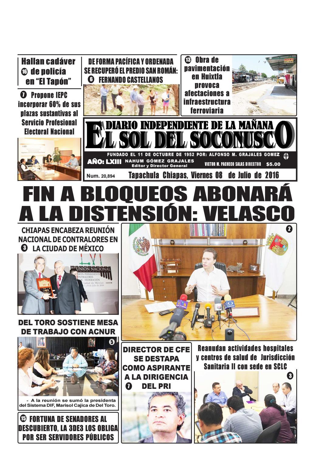 Periodico el sol del soconusco 08 07 16 by Periódico \