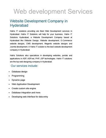 Web development web design company hyderabad website