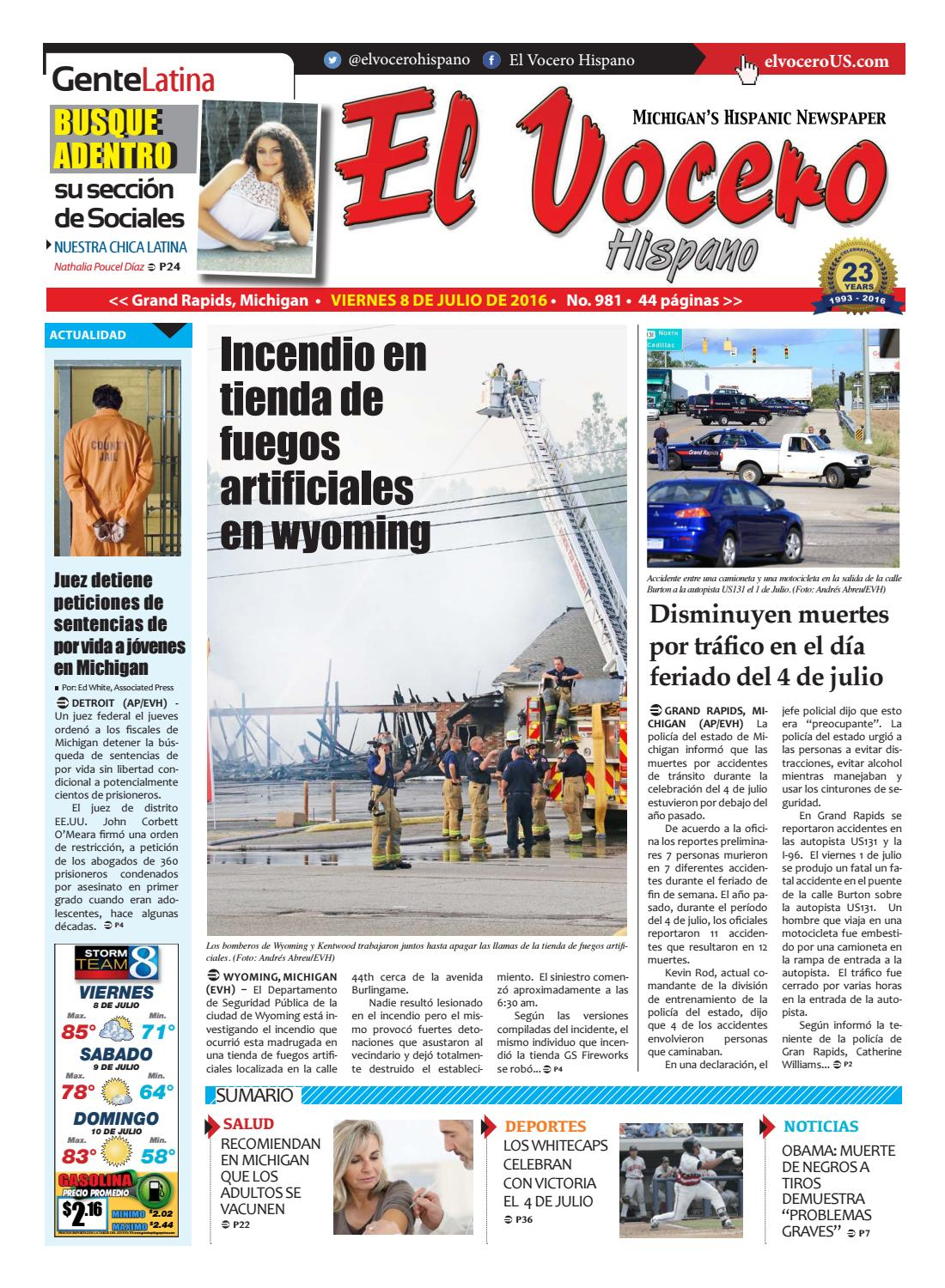 El Vocero Hispano 8 de Julio de 2016 by El Vocero Hispano - issuu