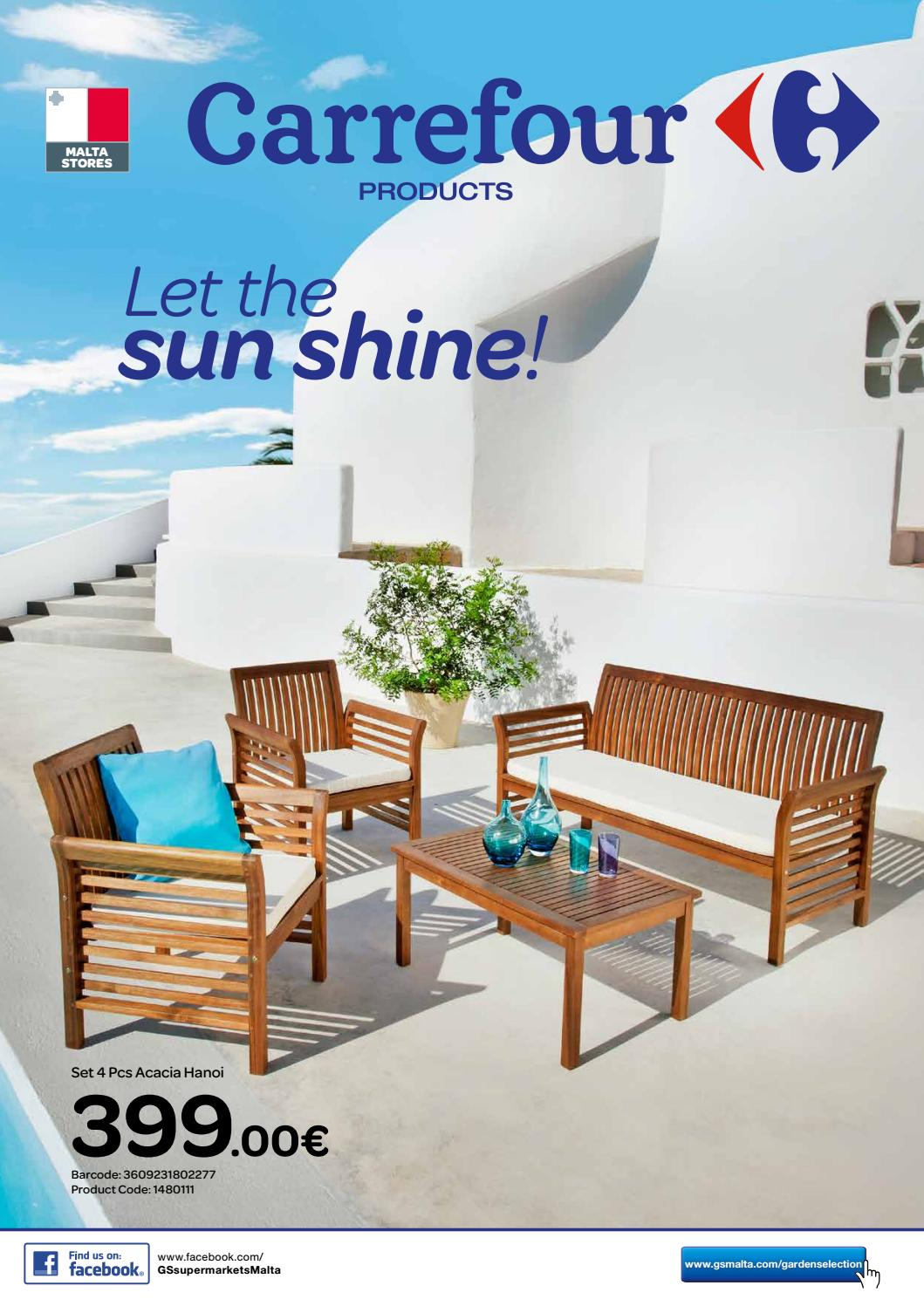carrefour garden furniture magazine 2016 by the concept