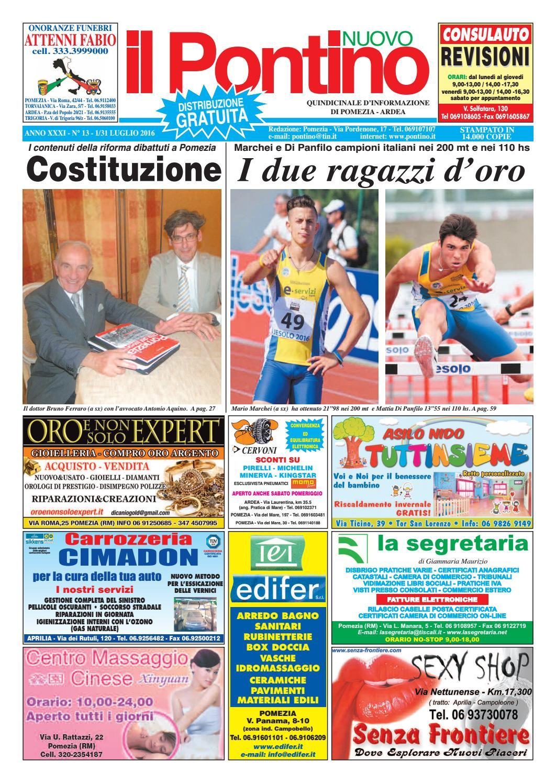 Il Pontino Nuovo - Anno XXXI - N. 13 - 1 31 Luglio 2016 by Il Pontino Il  Litorale - issuu 040078b9e47