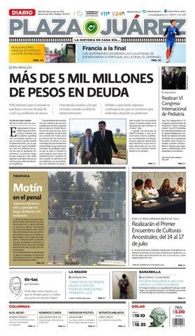 08 JULIO 2016 by Diario Plaza Juárez - issuu f9e4b60edf3f8