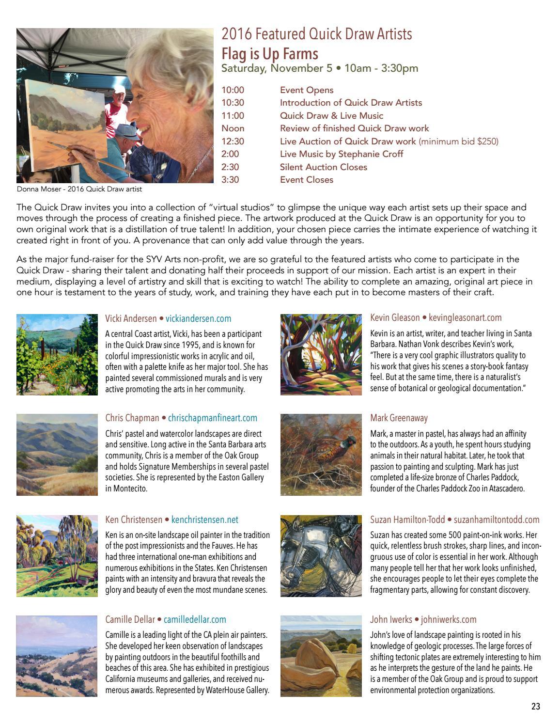 July 2016 SYV Arts Digital Magazine by Lompoc Valley Art Association
