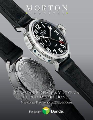0d3d6cd257f Subasta de Relojes y Joyería de Fundación Dondé Miércoles 27 de julio de  2016