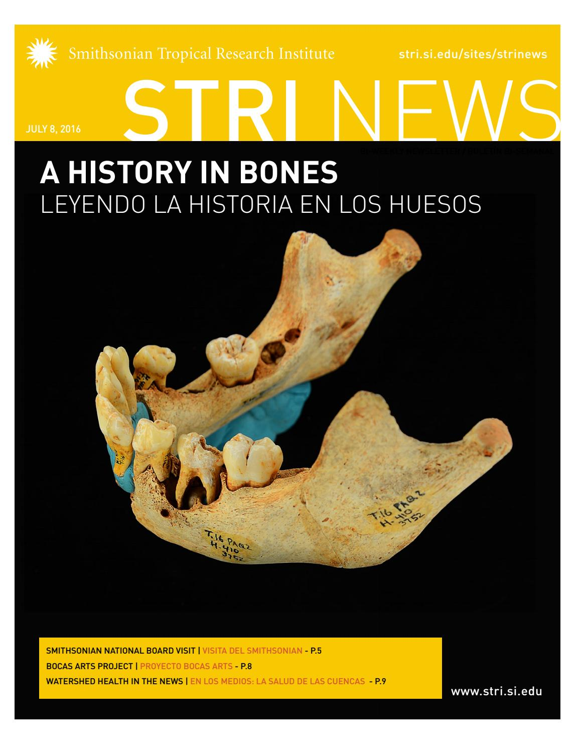 STRI NEWS JULY 8 by Smithsonian Tropical Research Institute - issuu