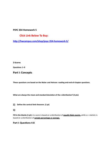 psyc 354 homework 5