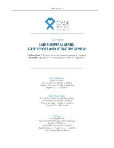 literature review sepsis