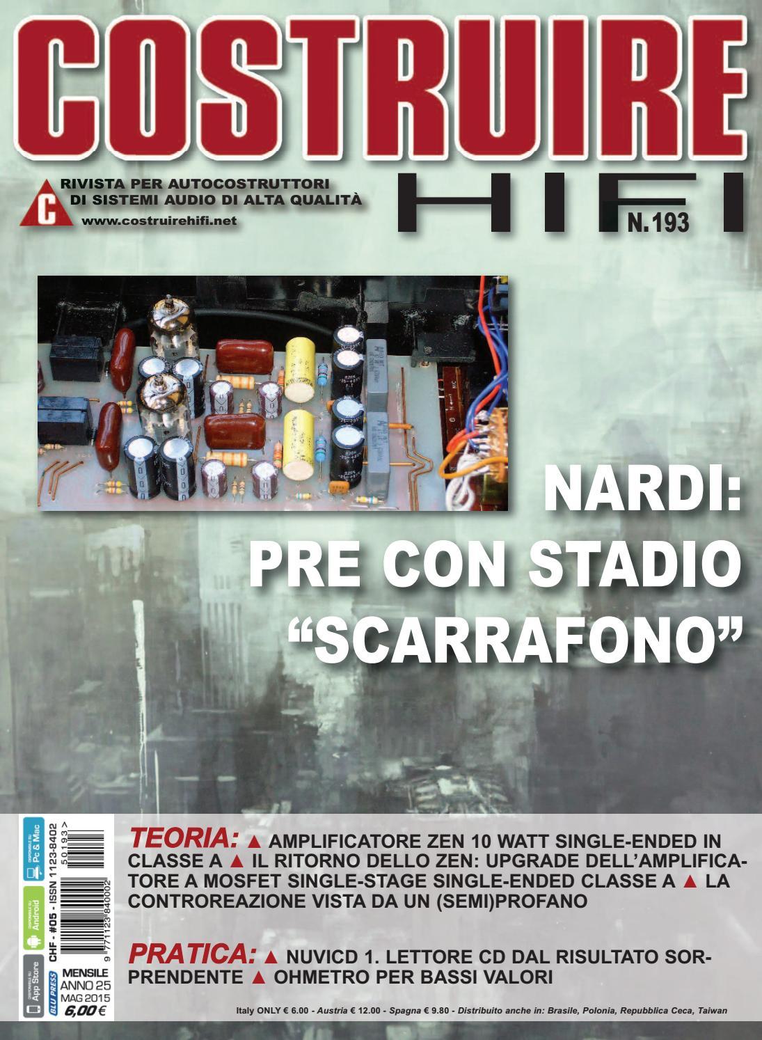 Schemi Elettrici Hi Fi : Costuire hifi n° 193 may 2015 by andrea bassanelli issuu